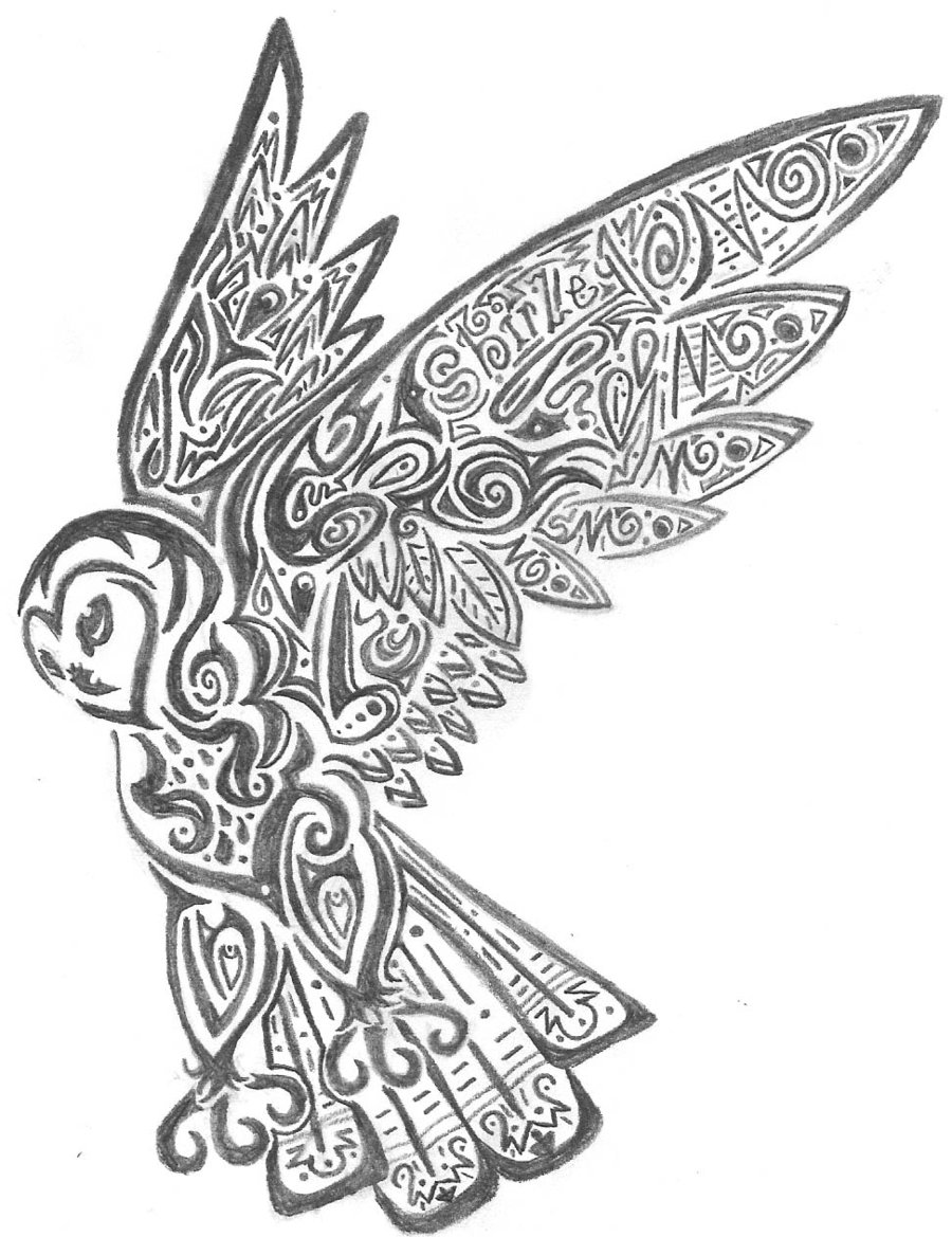 tattoo owl coloring pages - photo#5